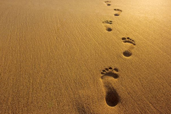 footprints in sad- funeral planning