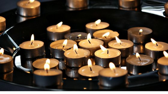 Candles for wake after cremation funeral services