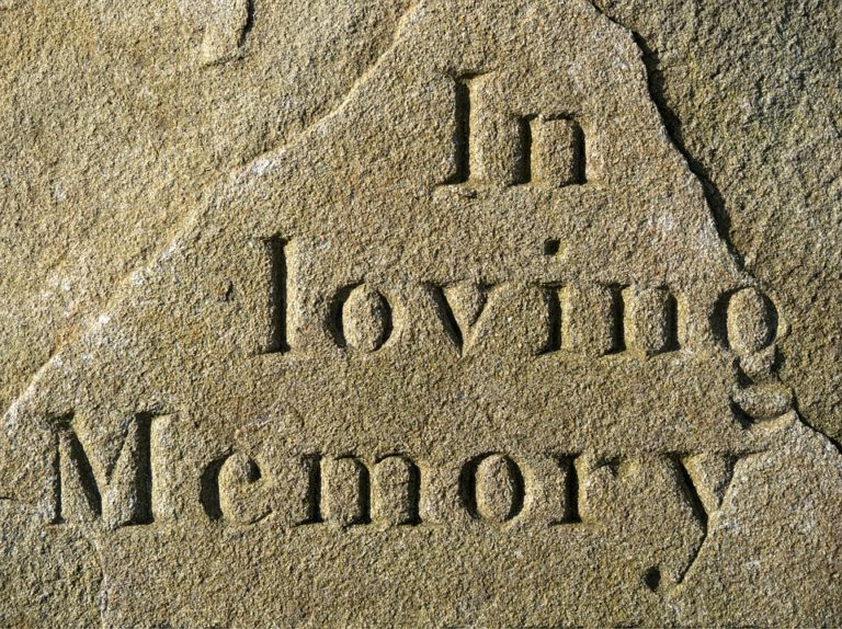 Coping with grief over Christmas image of in loving memory plaque